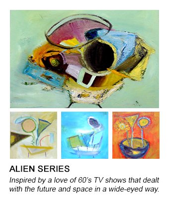 graphic of Barb's Alien #5 painting that links to her alien series