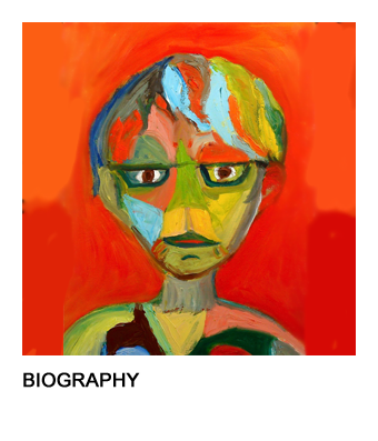 graphic of Barb's self portrait that links to her bio page