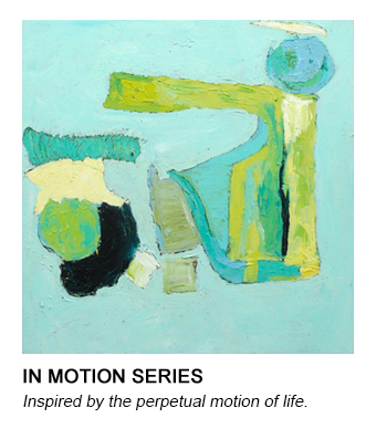 graphic of Barb's In Motion painting that links to her In Motion series