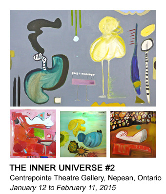 graphic of Barb's Inner Universe painting that links to the Universe #2 gallery