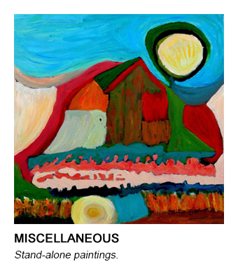 graphic of Barb's Sunrise painting that links to her Miscellaneous series