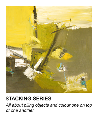 graphic of Barb's Stacking painting that links to her stacking series